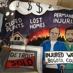 Demonstrators Demand An Economic 'People's Recovery' At Detroit Auto Show
